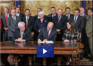 Bill Signing with Governor Wolf