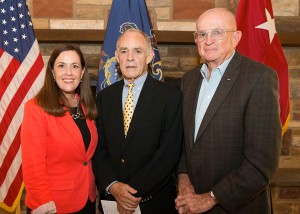 Sen. Lisa Baker, Maj. Gen. (Ret.) William Lynch and Lt. Gen. (Ret.) Dan O'Neill were on hand as Baker was inducted into the Pennsylvania Department of Military and Veterans Affairs Hall of Fame on July 15, 2014.